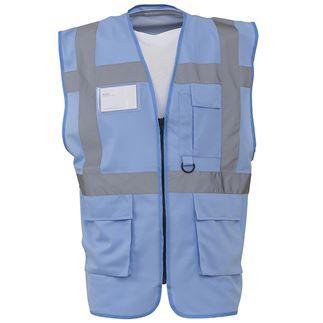 Yoko Hi Vis Executive Waistcoat Zip Up High Viz Vest Reflective Jacket HVW801